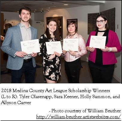 2018 Medina County Art League Scholarship Winners