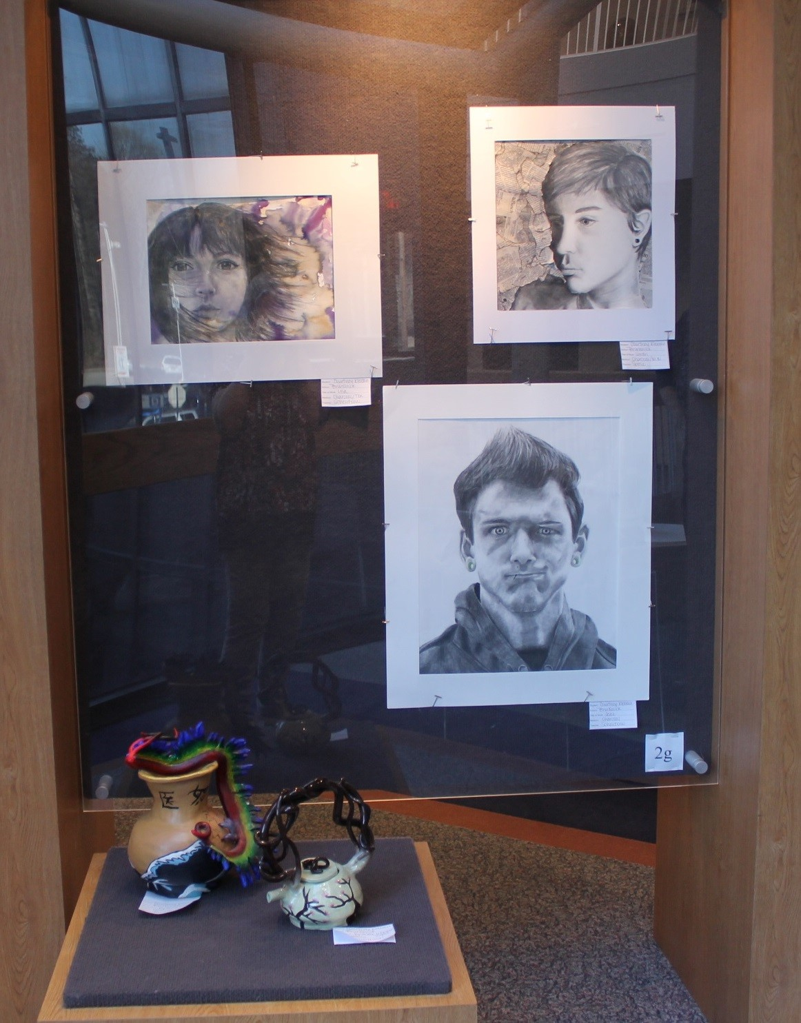 Courtney Klebau's artwork display