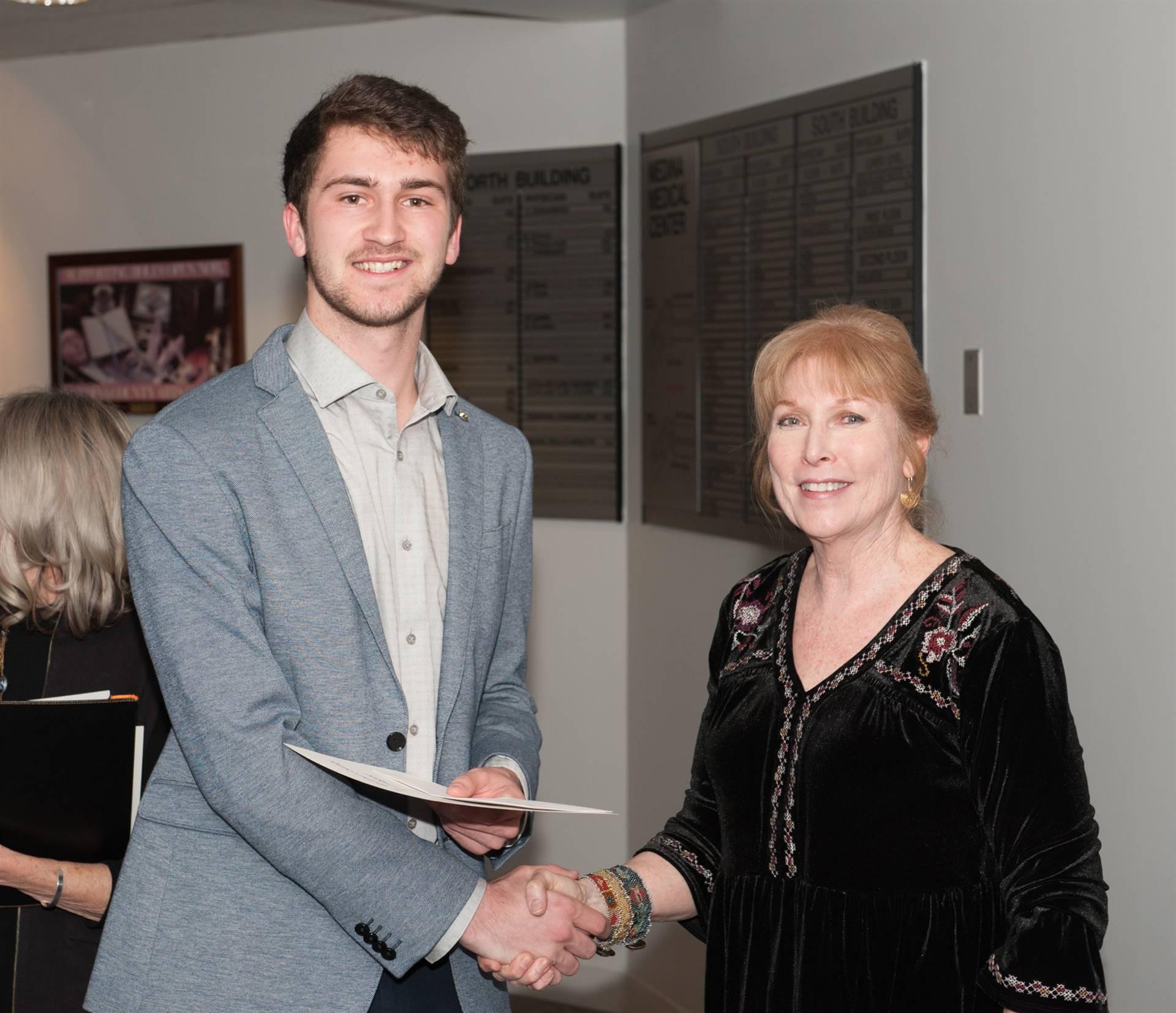 Tyler Glasenapp, Third-Place MCAL Scholarship Winner