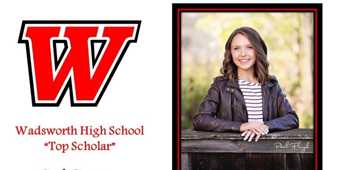 Emily Dennison of Wadsworth  High School 2018 Top Scholar