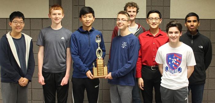 Revere HS JV Team, winners of the Medina County HS Academic Challenge League's JV Regular Season's winning team.