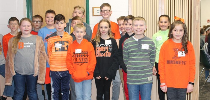 Fourth Graders from Buckeye Local Schools participating in the Medina County 24 Tournament