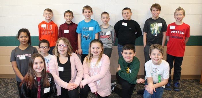 Fourth Graders from Cloverleaf Local Schools participating in the Medina County 24 Tournament