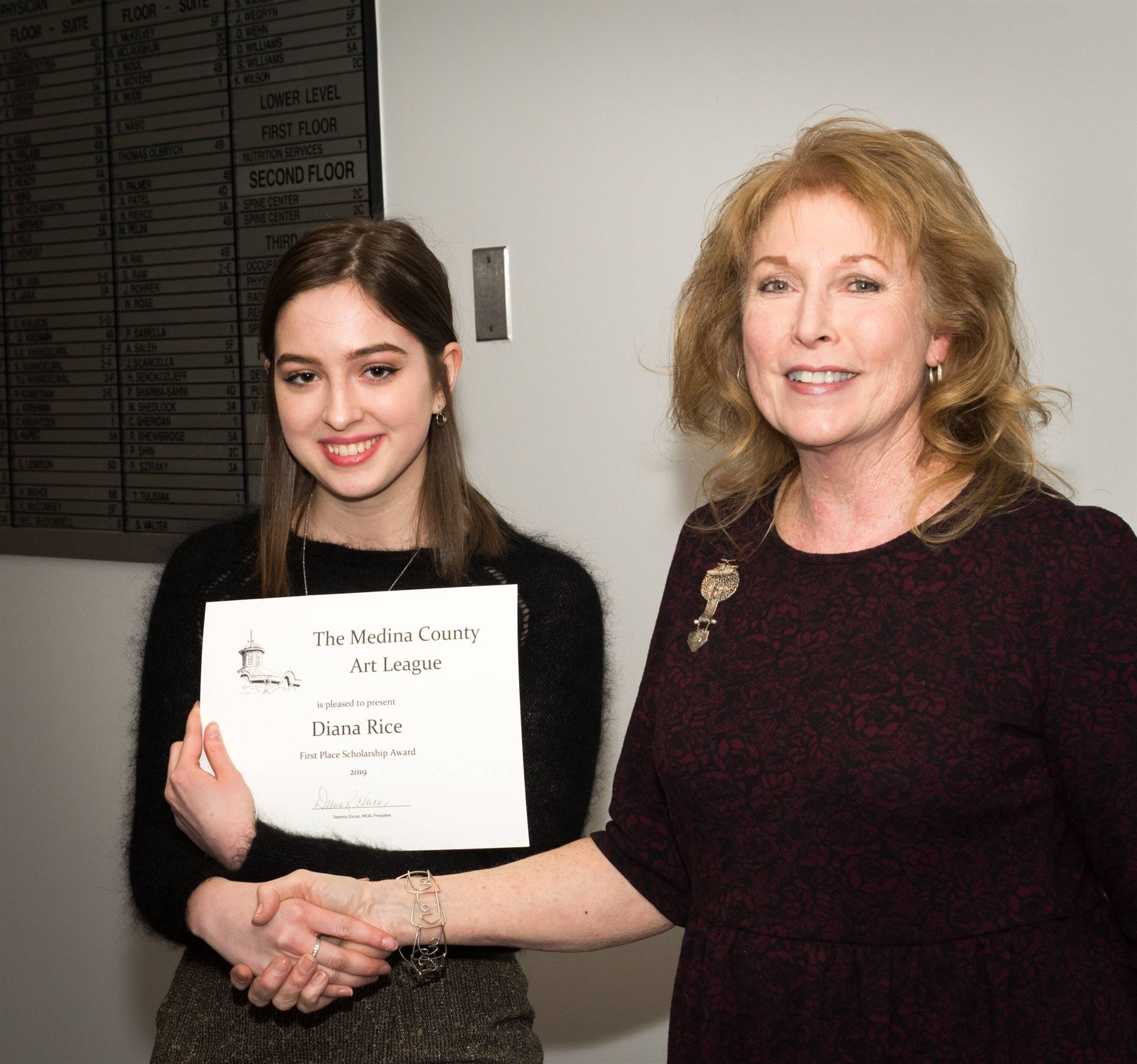 Diana Rice, First Place 2019 MCAL Scholarship Winner