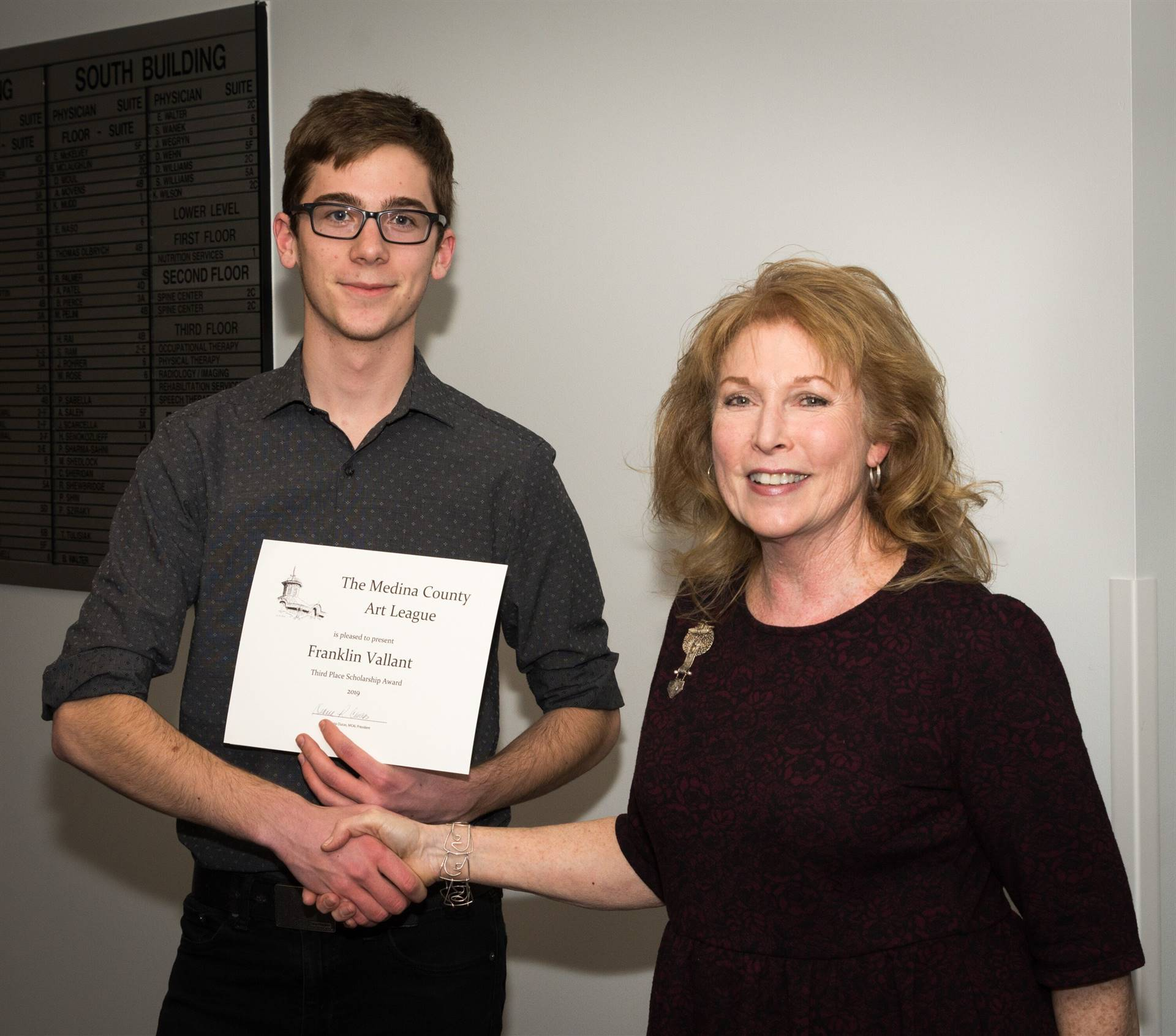 Frank Vallant, Third Place 2019 MCAL Scholarship Winner