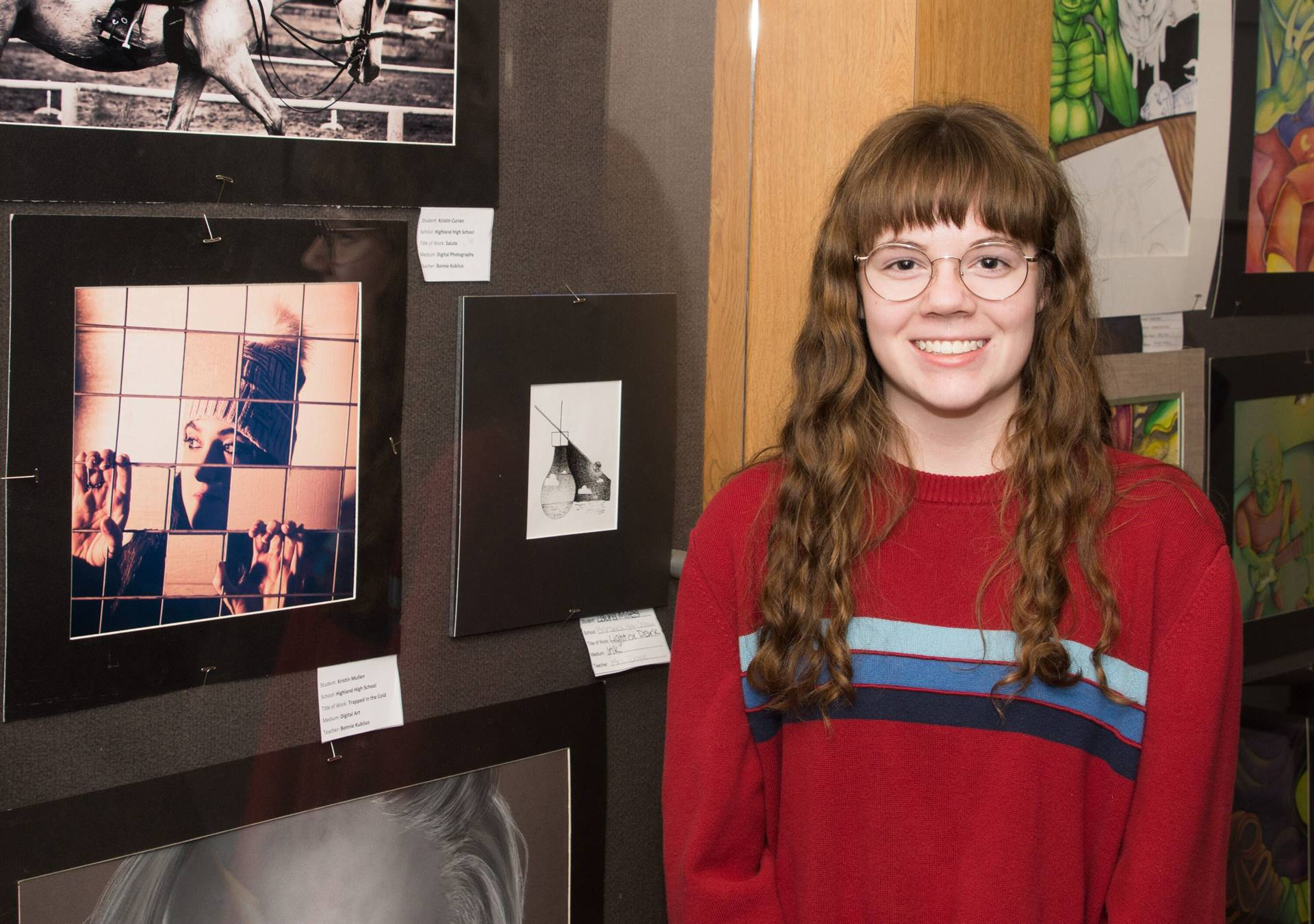 Laura Miles, Third Place 2019 Individual Artwork Winner, with her artwork