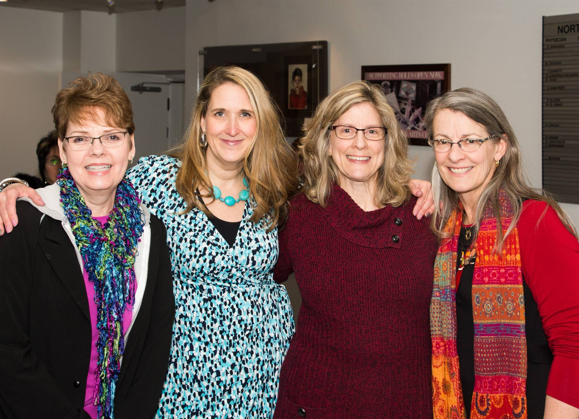 Participating Art Teachers (L to R): Pat Wise, Bonnie Kubilus, Julie Krueger, and Bobbie Foy