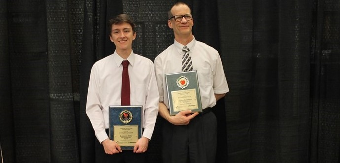 "Black River ""Top Scholar"" Benjamin Miller with ""Inspiration"" Dr. Clayton Van Doren"