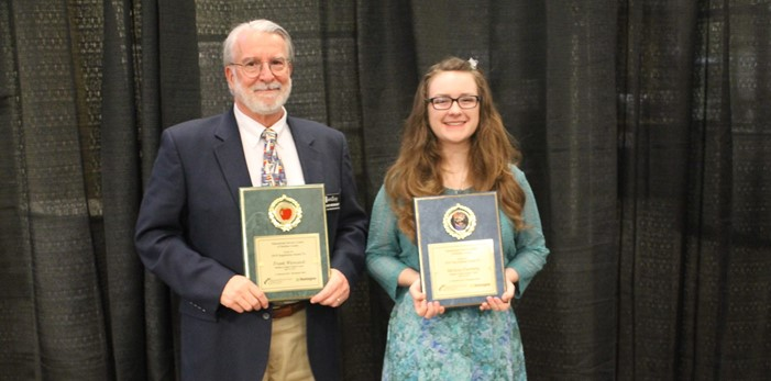 "MCCC ""Top Scholar"" Melissa Farthing with ""Inspiration"" Mr. Frank Wiewandt"